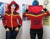 Elemental Fire -- Handmade Anti-Pill Fleece Hoodie / Sweatshirt