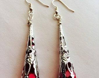 Silver Vintage teardrop earrings