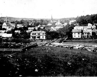 Holliston, MA in 1872 - Vintage Photo Print, Ready to Frame!