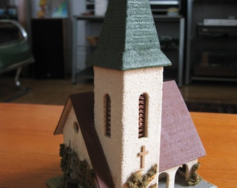 Vintage 1950s HO Scale Faller Church Made in Germany