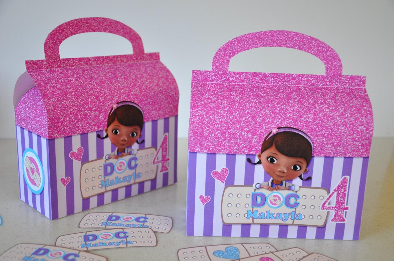 Doc McStuffins Doctor bag favor / treat box for birthday party Doc Mcstuffins Bag
