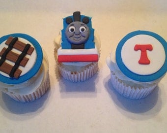 Thomas Inspired Fondant Cupcake Toppers