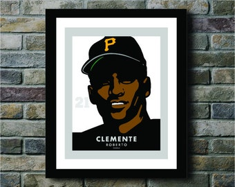 Roberto Clemente of the Pittsburgh Pirates Digital Print - 11x14