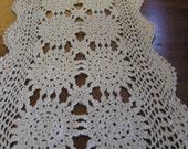 Looooooong hand crocheted table runner