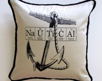 Nautical ElementeesTM Pillow Cover for the nerd in you