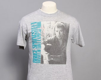 80s BRUCE SPRINGSTEEN Concert T-SHIRT / Original '88 Tour Shirt, L