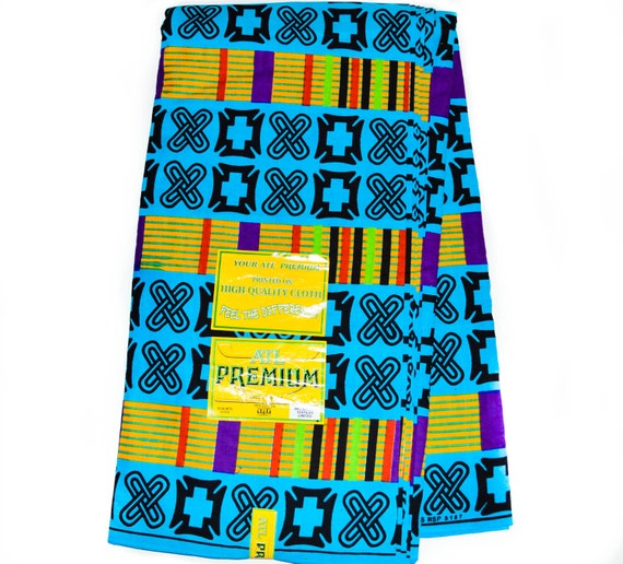Original Kente African Fabric Adinkra Cloth Print Made