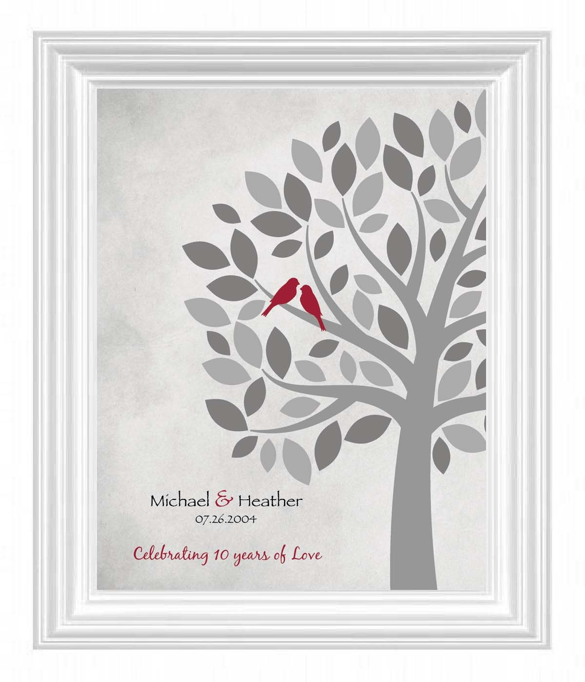 Gifts For 10th Wedding Anniversary For The Couple: 10th ANNIVERSARY PRINT Anniversary Gift For Wife 10th