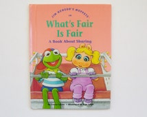 "Jim Henson's Muppet Babies Book ""What's Fair is Fair"" A Book About Sharing - Muppet Book, Children's Book, Reading, Story Book, Muppets Book"