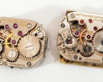 Matching pair of ladies Watch Movements- Wittnauer 5JN's