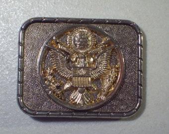 Vintage US The Great Seal E Pluribus Unum Belt Buckle