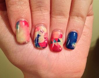 Multicoloured Prism Nail Wraps