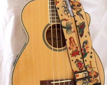 Sailor Jerry Tattoo Guitar Strap