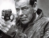 """Drawing Print of Kiefer Sutherland as Jack Bauer in """"24"""""""