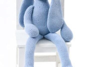 baby crochet pattern for  long eared bunny aran yarn 21inch