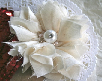 Handmade Country Chic Muslin Flowers