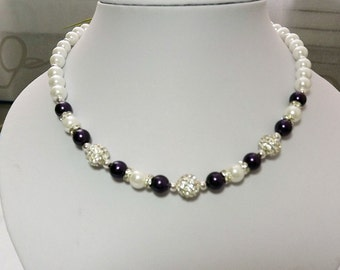 Purple Bridesmaid Jewelry Pearl  Jewelry Bridesmaid Jewelry, Wedding Jewelry, Bridal Party Gift