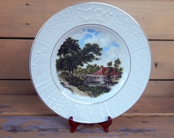 Collectible Wood & Sons Burslem English Ironstone Tudor Plate