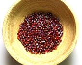 Size 11/0 Vintage Venetian Cherry Red Mix White Heart Seed Beads 10 grams