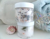 White LAVENDER or White ROSEMARY SOAK  made with pure essential oils and flowers - cherrytreelanesoap