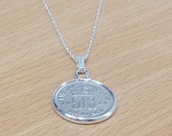 1944 73rd Birthday / Anniversary sixpence coin pendant plus 18inch SS chain gift 73rd