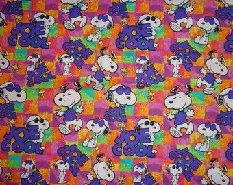 Snoopy Joe Cool Fabric by the Half Yard