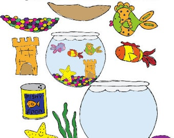 My Pet Fish Clipart Set