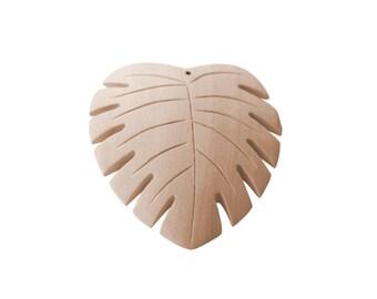 3 pcs Wood Pendant-Unfinished Wood Pendants-Spring Wood Pendant- Jewelry Supply- Ecofriendly Jewelry