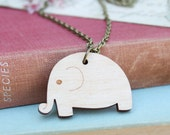 Laser Cut Wooden Elephant Necklace