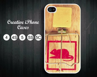 Mouse Trap with cheese phone case fits iPhone 4/4S, iPhone 5/5S, iPhone 5C