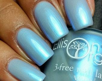 Blue Nail Polish - Let it Go - Light Blue Vegan Nail Polish - 3-free, cruelty free nail polish, shimmer nail polish