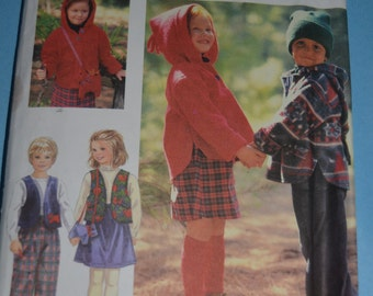 Simplicity 9778 Child's Separates Sewing Pattern - UNCUT  - Sizes  2  3  4