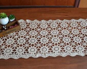Crocheted  Handmade Table runner  40X90CM (16x36 inch) OB