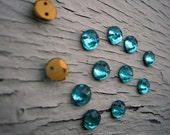 Antique Glass Buttons, Beads, Museum Deaccession, Gorgeous - 1/4 inch diameter, listing is for 12 pieces