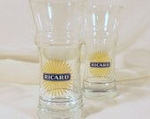 Ricard aperitif glasses, a pair