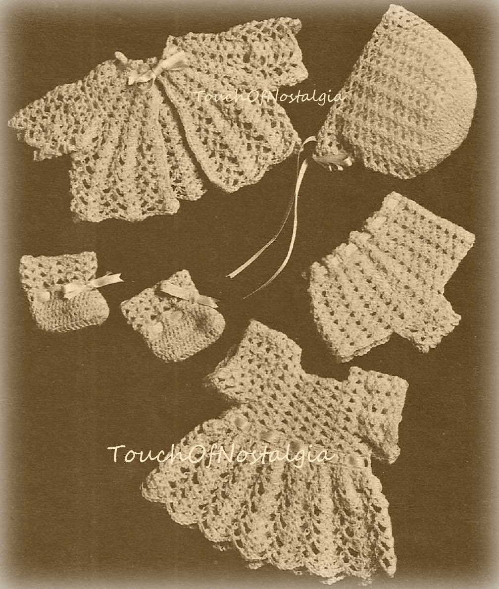 Crochet Doll Clothes Vintage Crochet Pattern Lacy Doll