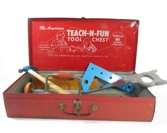 Red Metal Tool Chest Teach N Fun Tool Box