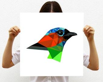 Large art print, Large art, Bird print,Large wall print, Geometric art, Geometric print, Large bird, Modern print Modern wall decor, Saira
