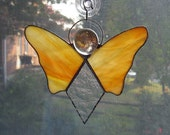 Angel Stained Glass Suncatcher - Sunset Yellow and Orange - Angel Ornament - Religious Decor