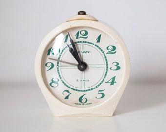 "Vintage alarm clock ,Soviet clock ,Russian clock ,Mechanical alarm clock ,WORKING clock ""Sevani"""