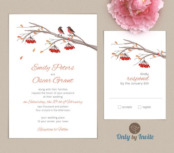 Fall Wedding Invitation Kits Personalized Wedding By