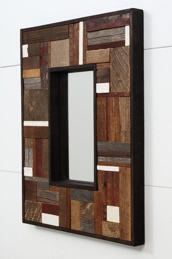 "Reclaimed wood Mirror 16-3/4""x12-3/4""x1-1/4"""