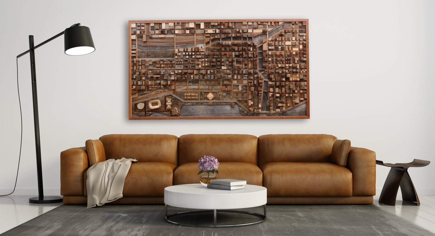 Personalized Wood Wall Art chicago cityscape wood wall art made of old reclaimed barn