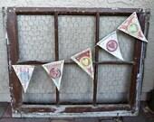 Vintage Rusty Crusty Sturdy Window Frame With Chicken Wire Jewelry - Photo - Hanger
