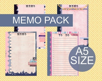 Printable Memo page for FIlofax A5 size