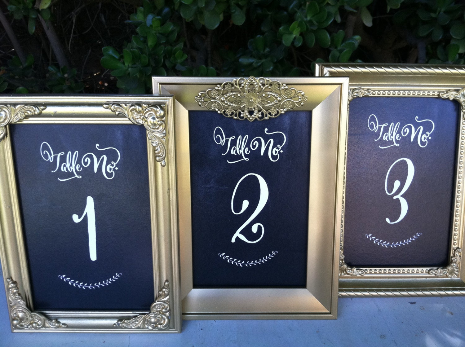 Table Numbers and Frames Wedding Frames Set of 10 by ...