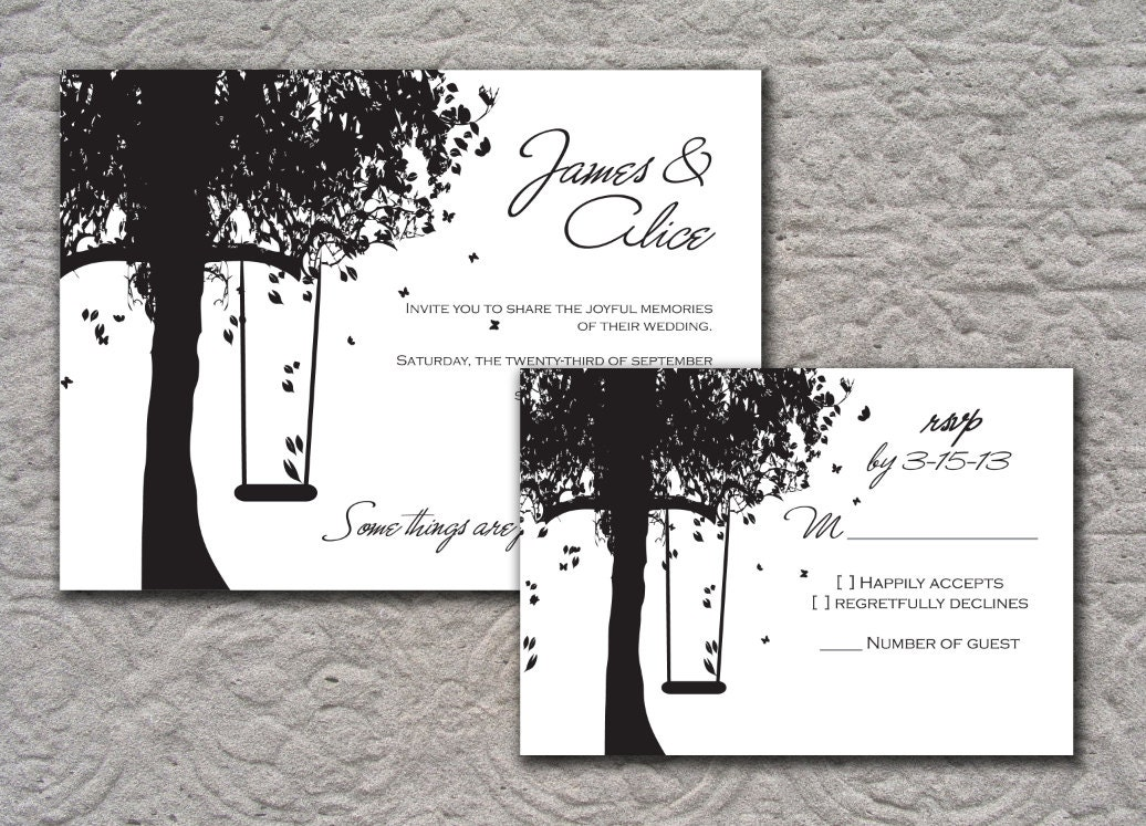 Outdoor Wedding Invitation Wording: Black And White Outdoor Wedding Invitation By TheWhiteInvite