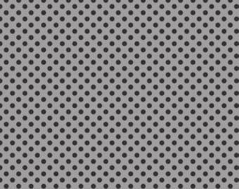 SALE 1 Yard Riley Blake Small Dots Tone on Tone in Black