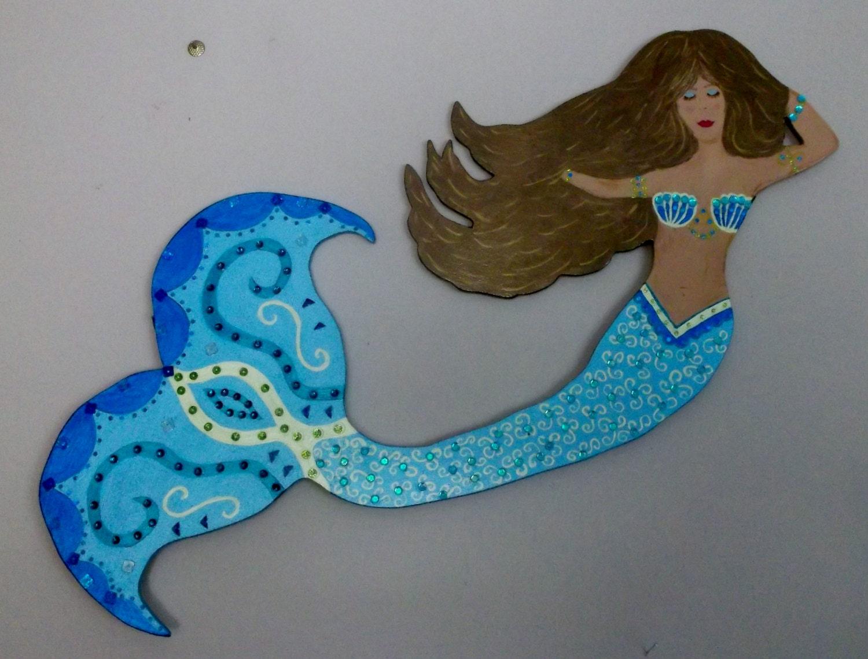 Https Www Etsy Com Listing 194236344 Beach Decor Home Decor Wooden Mermaids