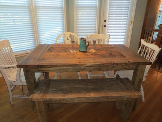 Aged And Weathered Wood Farmhouse Dining Sets By Wickedgrain